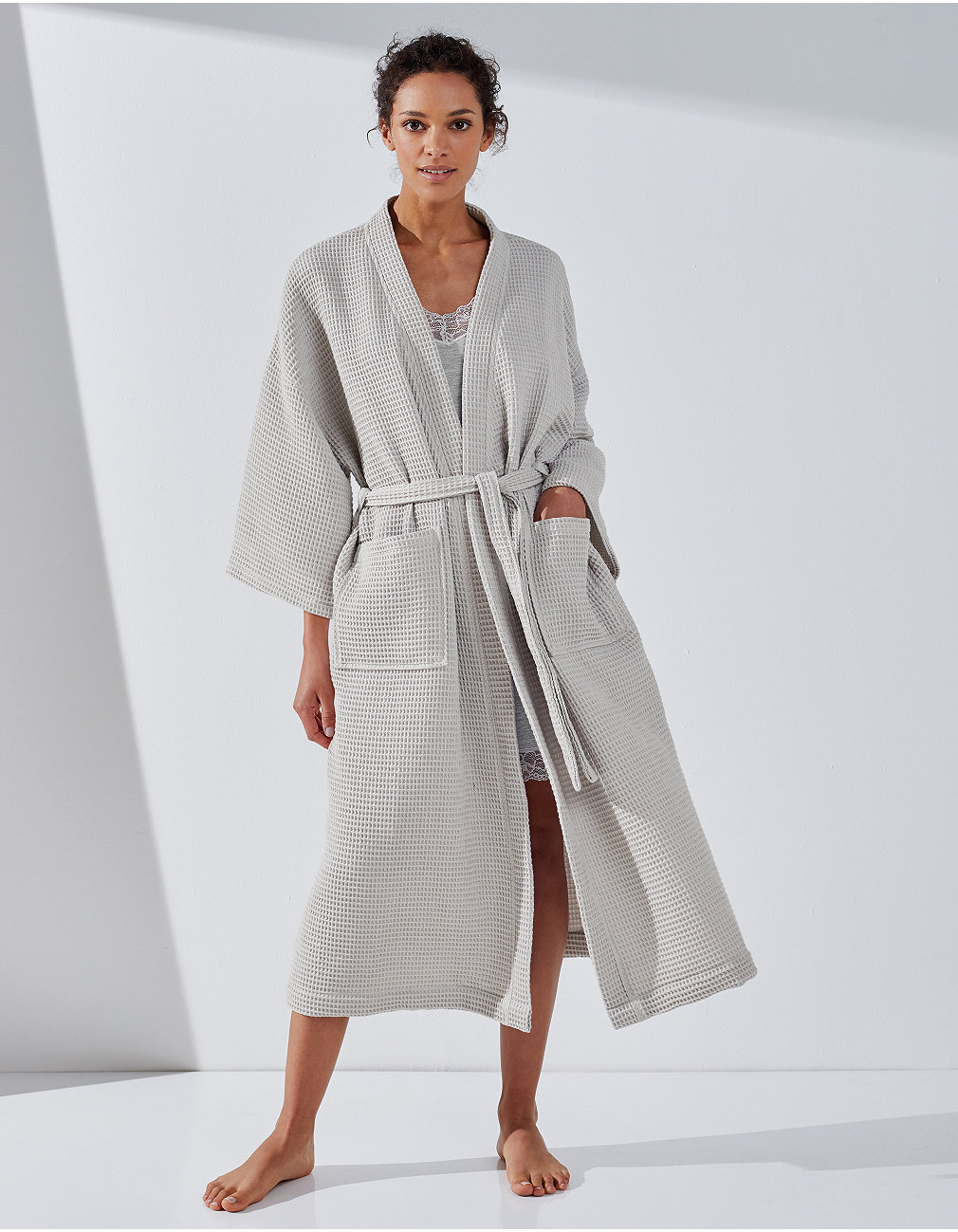 Lightweight Waffle Robe | Robes | The White Company US