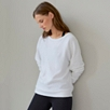 Lightweight Jersey Sweatshirt - White
