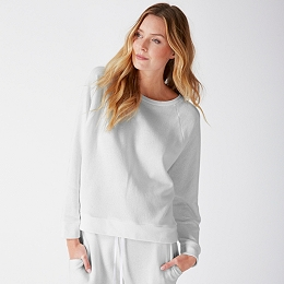 Lightweight Jersey Sweatshirt - Pale Gray Marl