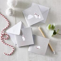 Polar Bear Christmas Cards – Set of 12
