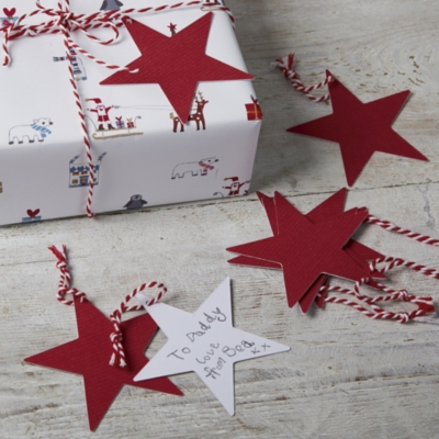 Red Star Gift Tags - Set of 10