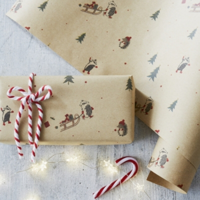 Woodland Creatures Wrapping Paper - 6m