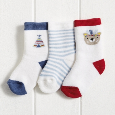 Little Warrior Bear Socks 3 Pack