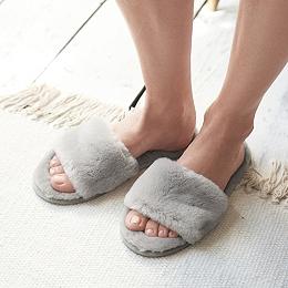 Faux-Fur Slider Slippers