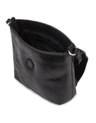 Leather Mini Crackle Bag