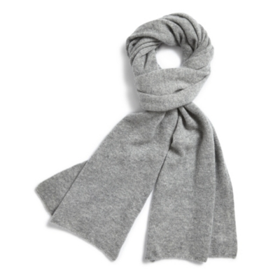 Men's Cashmere Scarf - Gray Marl