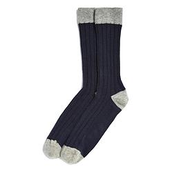Men's Contrast Toe Socks