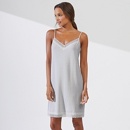 Mini Dot Print Jersey Nightgown