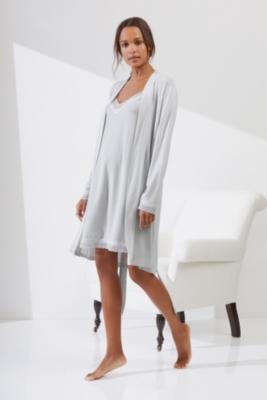 Mini Dot Print Jersey Robe