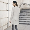 Merino Belted Cardigan - Pale Gray Marl