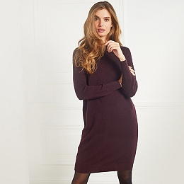 Wool Button-Back Knitted Dress