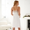Mesh and Lace Trim Nightdress  - Winter White