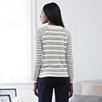 Tricolor Mesh Stripe Sweater