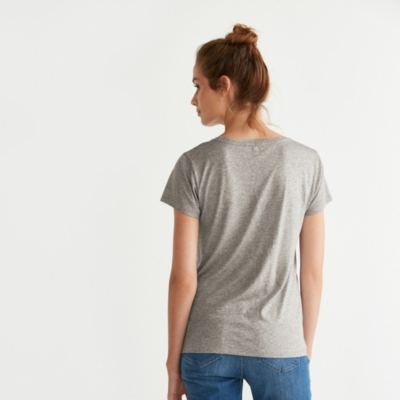 Metallic Foil Print T-Shirt