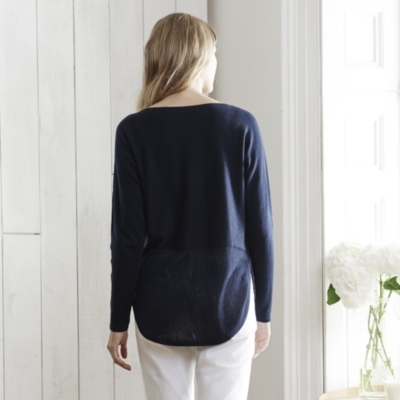 Mesh Hem Sweater