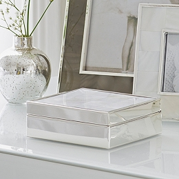 Mother of Pearl Mini Hinged Box