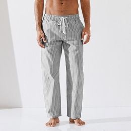 Stripe Flannel Pajama Bottoms