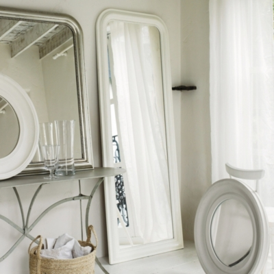 Madison Full Length Mirror - White