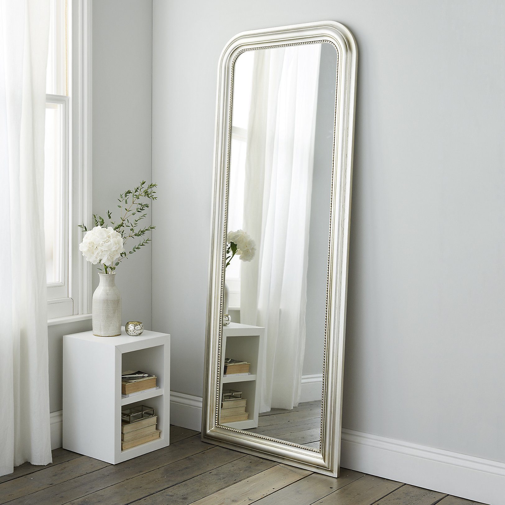 Mirrors wall floor dressing table full length the white madison full length mirror champagne silver amipublicfo Gallery