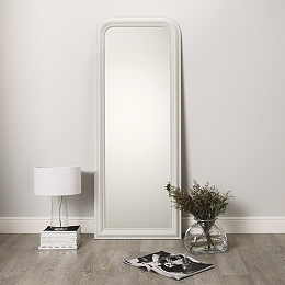 Mirrors home accessories home the white company uk for Gray full length mirror