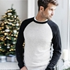 Colorblock Sweater - Silver Gray Marl