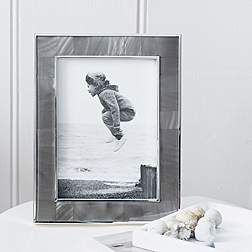 Mother of Pearl Charcoal Photo Frame 5x7''