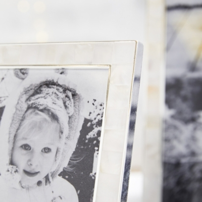 """Mother of Pearl Picture Frame 4x6"""""""