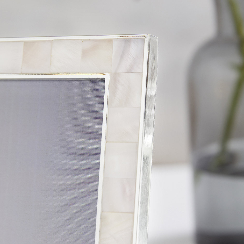 Funky Mother Of Pearl Photo Frame 5x7 Sketch - Custom Picture Frame ...