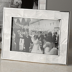 Mother of Pearl White Photo Frame 5x7''