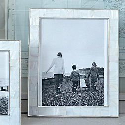 Mother of Pearl White Photo Frame 8x10''