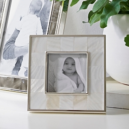 """Mother Of Pearl Picture Frame 3x3"""""""