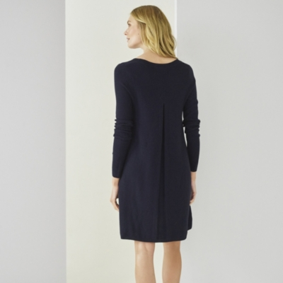 Merino Pleat Back Dress