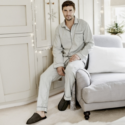 Men's Piped Pajama Set