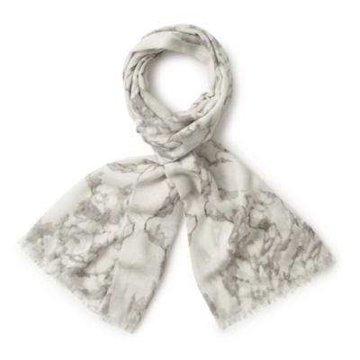 Marble Print Wool Scarf
