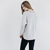 Merino Batwing Sweater - Pale Gray Marl