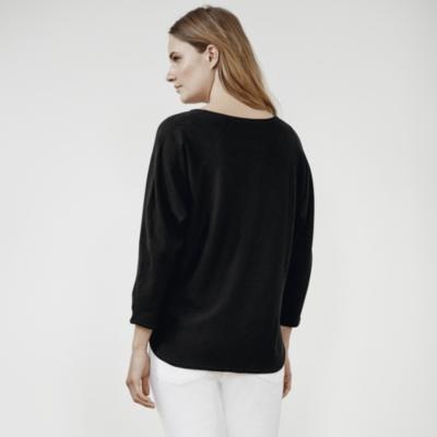 Merino Batwing Sweater - Black