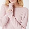 Multi Rib Slash Neck Sweater