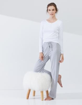Jersey Stripe Pajama Bottoms