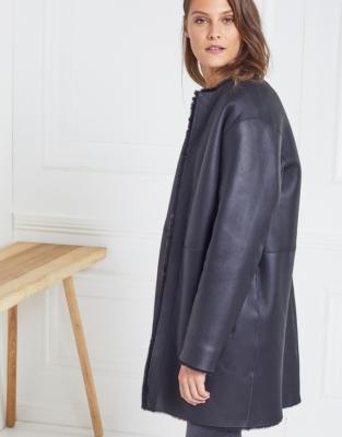Merino Sheepskin Cocoon Coat