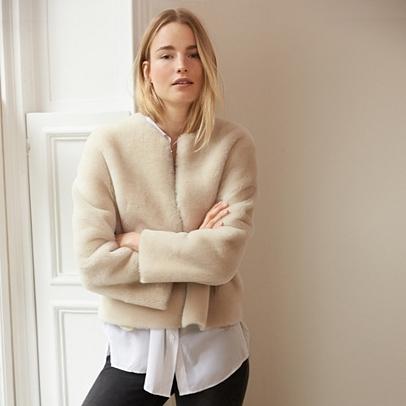 Merino Sheepskin Jacket | Coats & Jackets | The White Company UK