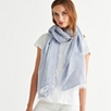 Fine Stripe Scarf with Linen
