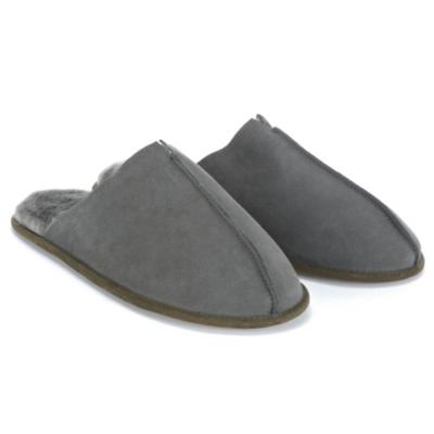 Men's Suede Mule Slippers - Dark Charcoal Marl