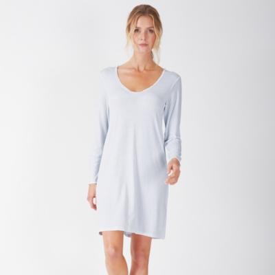 Micro Stripe Jersey Nightgown