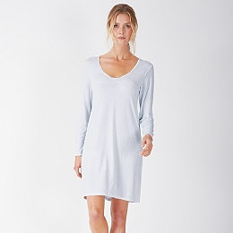Micro Stripe Jersey Nightgown