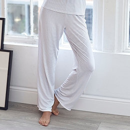 Micro Stripe Jersey Pajama Bottoms