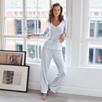 Micro Stripe Jersey Pajama Top