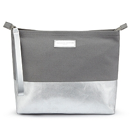 Metallic Stripe Travel Pouch