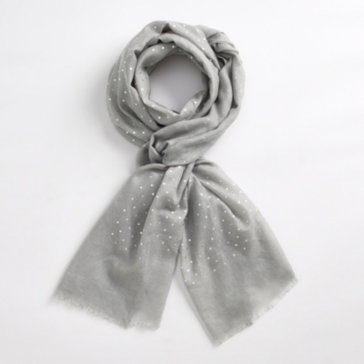 Metallic Spot Wool Scarf