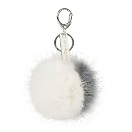Mini Two Tone Pom-Pom Key Ring