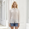 Mesh Trim Silk Blouse